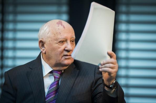 Mikhail Gorbaciov alle celebrazioni in Germania  (Photo credit ODD ANDERSEN/AFP/Getty Images)