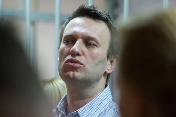 Alexei Navalny a processo per frode, il 30 dicembre 2014 (Photo credit DMITRY SEREBRYAKOV/AFP/Getty Images)
