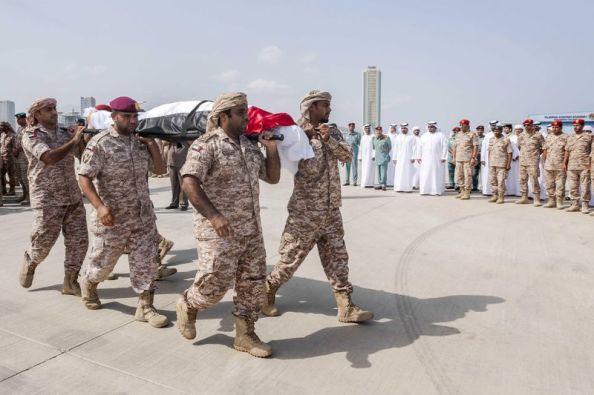 Il rientro delle salme dei soldati negli Emirati