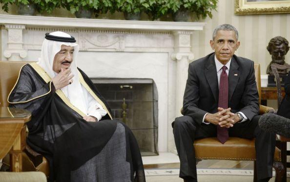 Barack Obama con il re saudita Salman bin Abd alAziz