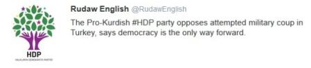 La presa di posizione del partito curdo