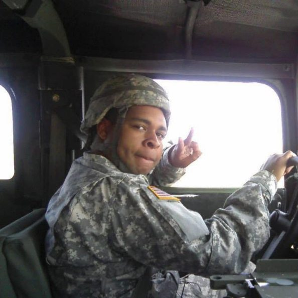 Micah Johnson seen here in army fatigues