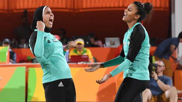 Le coppia egiziana del beach volley